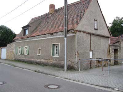 Älteres Lehmhaus bei Leipzig