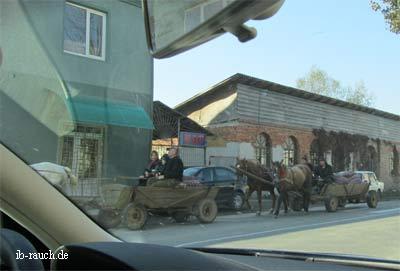 Pferdewagen in Velykyi Bychov