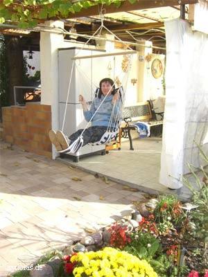 Entspannung im Freien auf einer Terrasse
