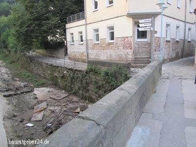 Nach dem Hochwasser in Wehlen