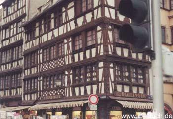 Historischer Fachwerkbau in Straßburg