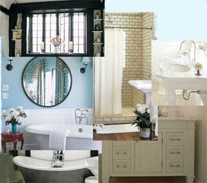 Verschiedene Möglichkeiten ein Bad zu gestalten.